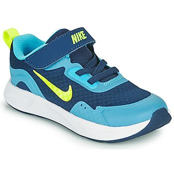 Čevlji  Dečki Šport Nike WEARALLDAY TD Modra / Zelena