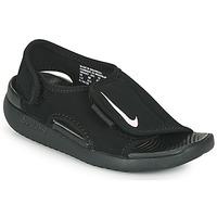 Čevlji  Otroci Natikači Nike SUNRAY ADJUST 5 V2 PS Črna