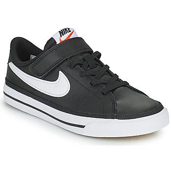 Čevlji  Otroci Nizke superge Nike NIKE COURT LEGACY Črna / Bela