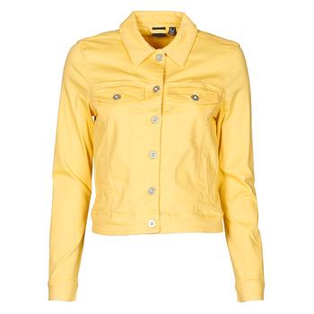 Oblačila Ženske Jeans jakne Vero Moda VMHOTSOYA Rumena