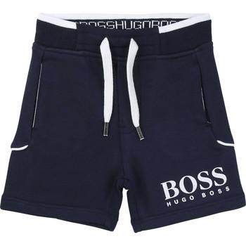Oblačila Dečki Kratke hlače & Bermuda BOSS NOLLA Modra