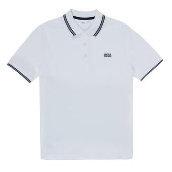 Oblačila Dečki Polo majice kratki rokavi BOSS TONNELA Bela