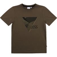 Oblačila Dečki Majice s kratkimi rokavi BOSS J25L02-64C-C Kaki