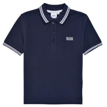 Oblačila Dečki Polo majice kratki rokavi BOSS TONNELA Modra