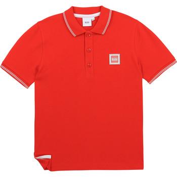 Oblačila Dečki Polo majice kratki rokavi BOSS BARBORA Rdeča