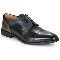 Čevlji  Moški Čevlji Derby Redskins WINDSOR Črna / Siva