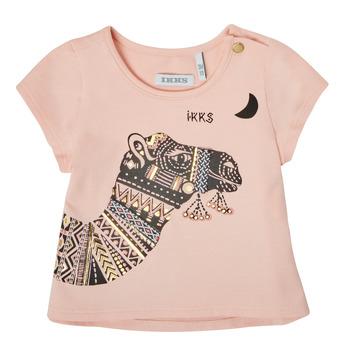 Oblačila Deklice Majice s kratkimi rokavi Ikks XS10100-32 Rožnata