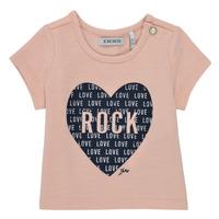 Oblačila Deklice Majice s kratkimi rokavi Ikks XS10120-31 Rožnata