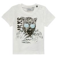 Oblačila Dečki Majice s kratkimi rokavi Ikks XS10161-19 Bela