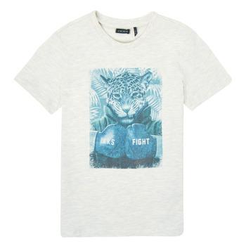 Oblačila Dečki Majice s kratkimi rokavi Ikks XS10183-22-C Bela
