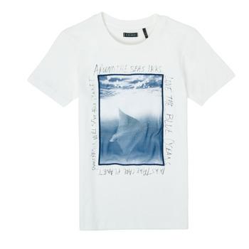 Oblačila Dečki Majice s kratkimi rokavi Ikks XS10033-19-C Bela
