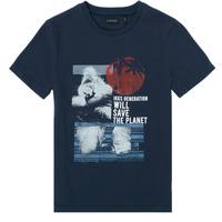 Oblačila Dečki Majice s kratkimi rokavi Ikks XS10013-48-C Modra
