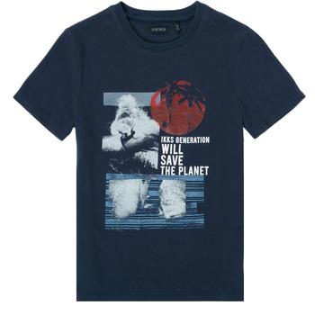 Oblačila Dečki Majice s kratkimi rokavi Ikks XS10013-48-J Modra