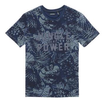 Oblačila Dečki Majice s kratkimi rokavi Ikks XS10153-46-J Modra