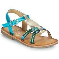 Čevlji  Deklice Sandali & Odprti čevlji Mod'8 CALICOT Turkizna / Pozlačena