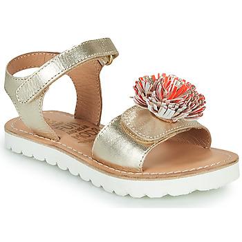 Čevlji  Deklice Sandali & Odprti čevlji Mod'8 JELLINE Pozlačena / Koralna