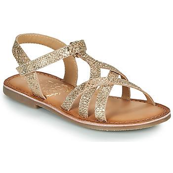 Čevlji  Deklice Sandali & Odprti čevlji Mod'8 CANISA Pozlačena