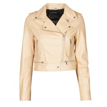 Oblačila Ženske Usnjene jakne & Sintetične jakne Oakwood YOKO Krem