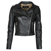 Oblačila Ženske Usnjene jakne & Sintetične jakne Oakwood ALIZEE Črna