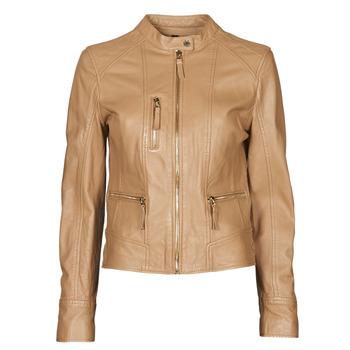 Oblačila Ženske Usnjene jakne & Sintetične jakne Oakwood EACH Kamel