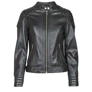 Oblačila Ženske Usnjene jakne & Sintetične jakne Oakwood ELLA Črna
