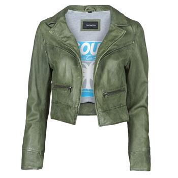 Oblačila Ženske Usnjene jakne & Sintetične jakne Oakwood TRISH Zelena