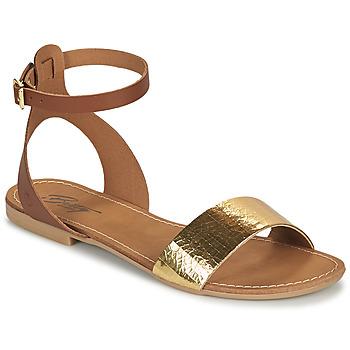 Čevlji  Ženske Sandali & Odprti čevlji Betty London GIMY Kamel / Pozlačena