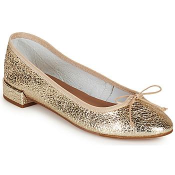 Čevlji  Ženske Balerinke Minelli PLIVIA Pozlačena