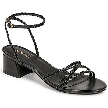 Čevlji  Ženske Sandali & Odprti čevlji Minelli HARIETTE Črna