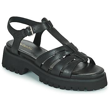 Čevlji  Ženske Sandali & Odprti čevlji Minelli HELLHA Črna