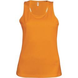 Oblačila Ženske Majice brez rokavov Proact Débardeur femme  Sport orange