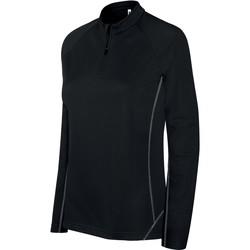 Oblačila Ženske Športne jope in jakne Proact Sweat femme  Running 1/4 Zip noir