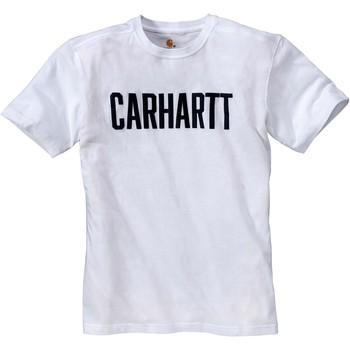 Oblačila Majice s kratkimi rokavi Carhartt T-shirt  Block blanc