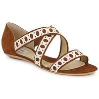Čevlji  Ženske Sandali & Odprti čevlji Moschino DELOS SAND Kamel / Slono-koščena
