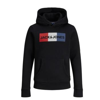 Oblačila Dečki Puloverji Jack & Jones JJECORP LOGO PLAY SWEAT Črna