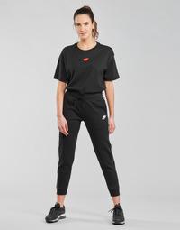 Oblačila Ženske Spodnji deli trenirke  Nike NSMLNESSNTL FLC MR JGGR Črna / Bela