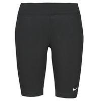 Oblačila Ženske Pajkice Nike NSESSNTL MR BIKER SHORT Črna / Bela