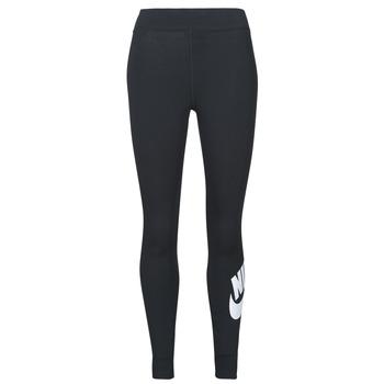 Oblačila Ženske Pajkice Nike NSESSNTL GX HR LGGNG FTRA Črna / Bela