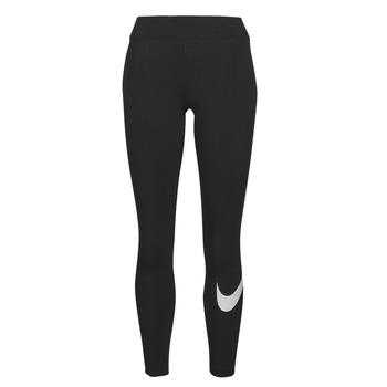 Oblačila Ženske Pajkice Nike NSESSNTL GX MR LGGNG SWSH Črna / Bela