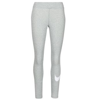 Oblačila Ženske Pajkice Nike NSESSNTL GX MR LGGNG SWSH Siva / Bela