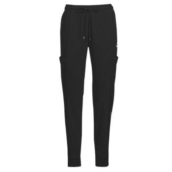 Oblačila Ženske Spodnji deli trenirke  Nike NSAIR PANT FLC MR Črna / Bela