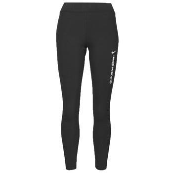 Oblačila Ženske Pajkice Nike NSSWSH LGGNG HR Črna / Bela