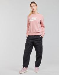 Oblačila Ženske Spodnji deli trenirke  Nike NSICN CLASH PANT CANVAS HR Črna / Siva