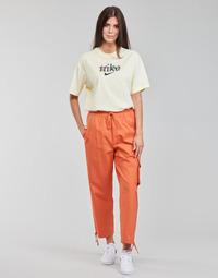 Oblačila Ženske Spodnji deli trenirke  Nike NSICN CLASH PANT CANVAS HR Kostanjeva / Oranžna