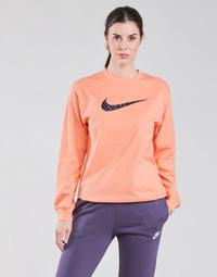 Oblačila Ženske Majice z dolgimi rokavi Nike NSICN CLSH LS TOP HBR Rožnata / Vijolična