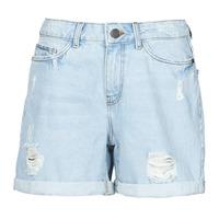 Oblačila Ženske Kratke hlače & Bermuda Noisy May NMSMILEY Modra / Svetla
