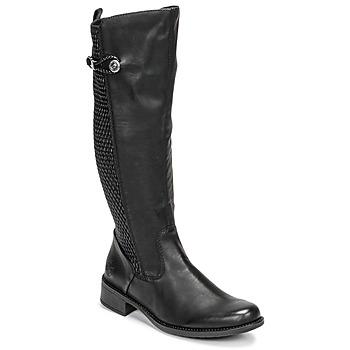 Čevlji  Ženske Mestni škornji    Rieker  Črna