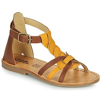 Čevlji  Deklice Sandali & Odprti čevlji Citrouille et Compagnie GITANOLO Rumena / Kamel