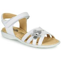 Čevlji  Deklice Sandali & Odprti čevlji Citrouille et Compagnie HERTUNE Bela