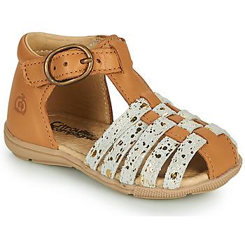 Čevlji  Deklice Sandali & Odprti čevlji Citrouille et Compagnie RINE Kamel / Camaieu / Pozlačena